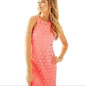 Lilly Pulitzer Laser Cut Mango Shift Dress